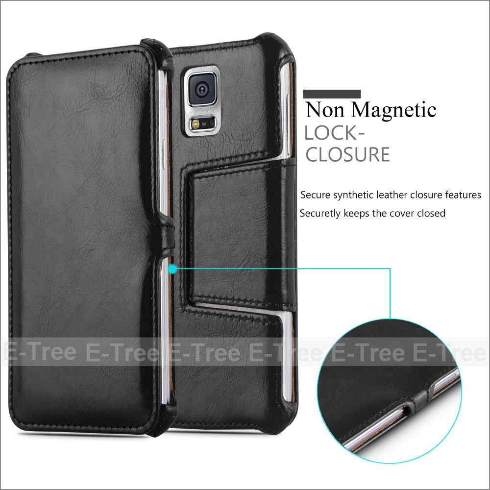 Wholesale Stand Feature PU Leather Flip Magnet Phone Case For Samsung Galaxy S5, Leather PU Back Cover For Samsung
