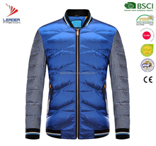 OEM custom satin bomber fitted jacket quilted winter men jacket