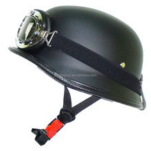 Black colour German Style Polo Novelty Motorcycle Half Helmet
