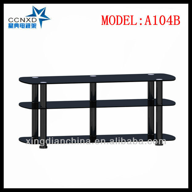 Living Room Furniture LED TV Stand Universal Glass TV Table
