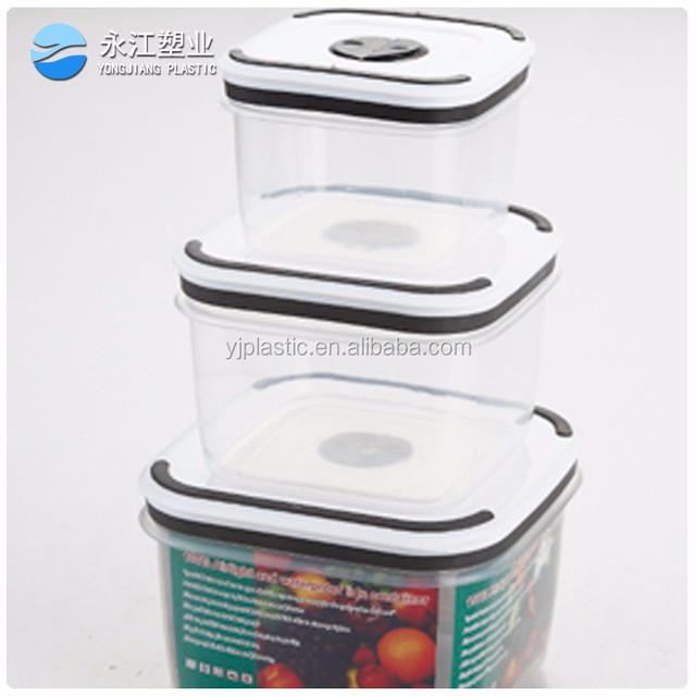 wholesale unique design crystal acrylic storage boxes plastic rice storage box take away container plastic food box