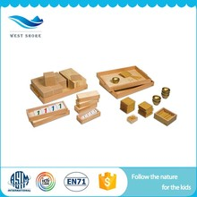 Wholesale wooden beads shapes box bead baby toys montessori golden bead material