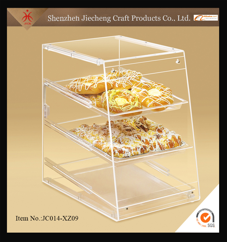 Hot sale fashion design customized square acrylic cake bread display stand