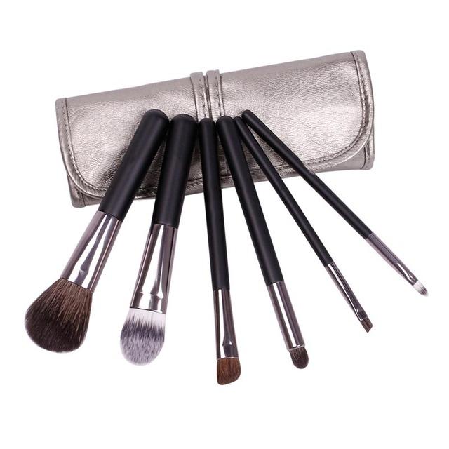 makeup brushes 6pcs Goat Hair Professional brush set Eye Shadows Eyeliner Nose Smudge make up