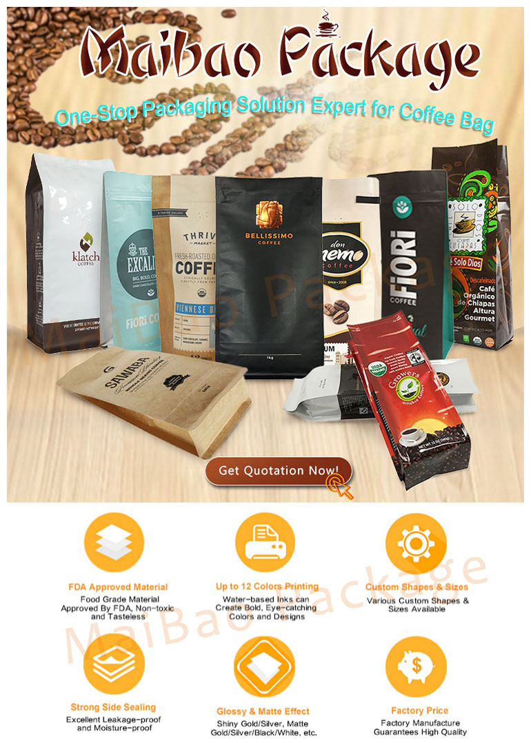 Malaysia Singapore Kenya Canada Recycle 50G Clear Black Kraft Paper Coffee Packaging Bag With Window China Supplies In Guangzhou