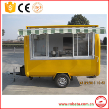 Hot sale food wagon/burger cart/mobile food truck with CE approval