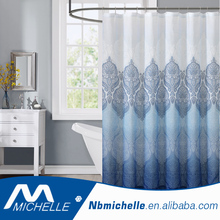 Modern style 540D linen bathroom shower curtain polyester