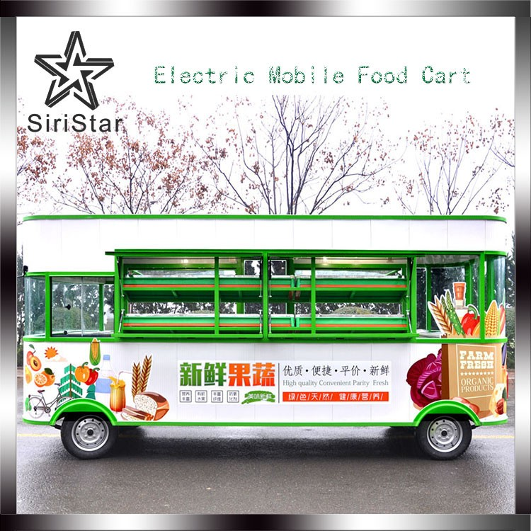 Best Quality Food Carts Vegetable and Fruit and mobile Kitchen Truck For Sale