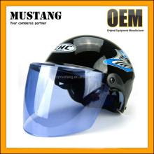 DOT Double Visors New Model Flip up Index half Face Helmet