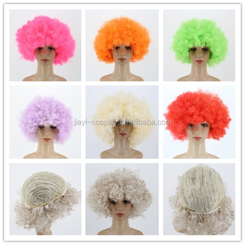factory price Soccer Football Fans wigs