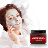 Samples available OEM pure indian healing clay for face and body