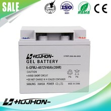 Good performance 12v 40ah GEL Car battery motorcycle battery