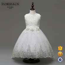 wholesale children long frocks designs flower girl dress for kid baby white ball gown for wedding birthday Bridesmaids