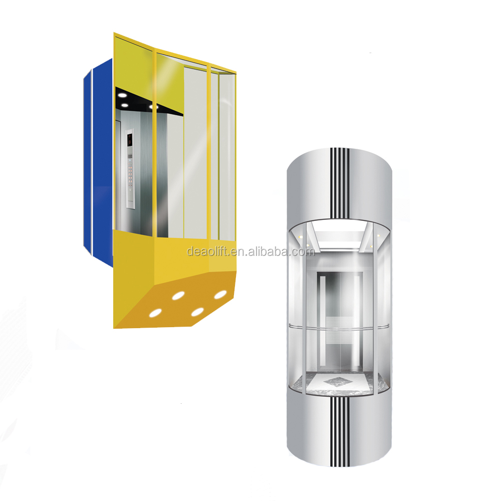 China made German technology CE certificate Outdoor Semicircle Residential Panoramic Elevator
