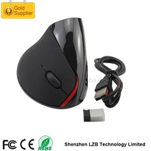 Custom Logo Ergonomic Vertical 2.4G USB Wireless Optical Mouse Driver CPI with Rechargeable Battery