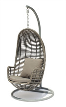 Steel PE Wicker Swing Chair