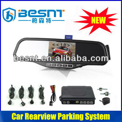 Besnt Four-sensor HD Bluetooth Car Rearview Parking System 3.5 inch Wireless Back-up Camera and Parking Sensor BS-HS02C
