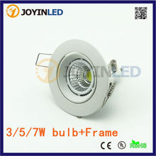 3W 5W 7W COB GU10 MR16 LED SPOTLIGHT fittings 75mm cut out round ceiling fixture downlight