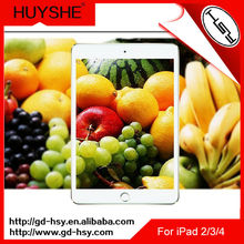 HUYSHE best price cellphone parts for ipad accessories anti uv screen protector for ipad 2/3/4