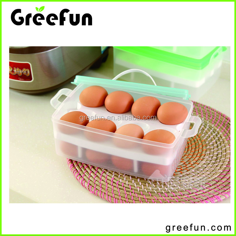 Hot Sale Double-Deck Portable 24 Cavity Picnic Egg Tray ,High Quality Wholesale 2 Layer Plastic Egg Container Box Manufacture