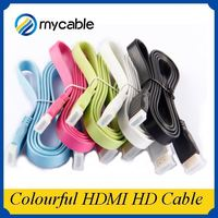 wholesale 24K gold plated high speed Colorful hdmi for zte cable