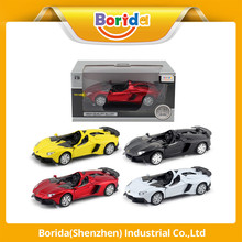 OEM custom kid toy 2 open doors diecast mini racing car model