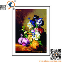 Lenticular printing 3D PP/PET pictures of oil Flower Paintings
