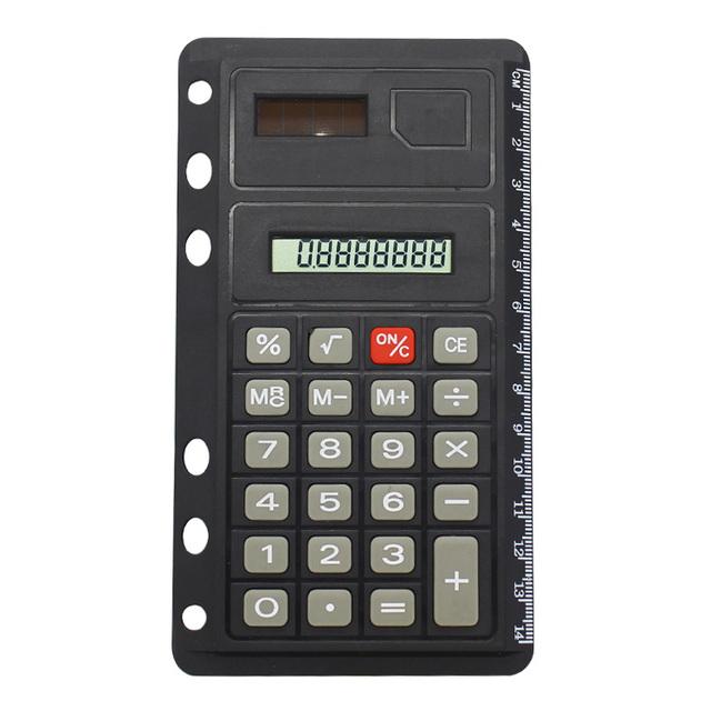 Office Supplies 8-Digit Solar Power Ruler Pocket Notebook Calculator
