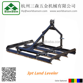 3point farm land leveler for tractors attachments; tractor rear frame leveler