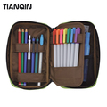Fashion Cheap Wholesale Pencils Pouch Nylon Pen Bag Fancy Funny Pencil Bag