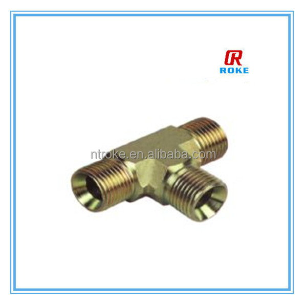 forged stainless steel 316 high pressure brass male thread tee double ferrule