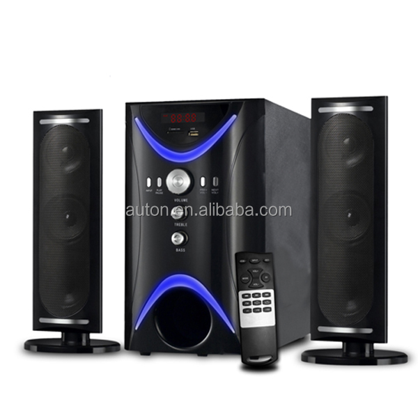 Hot sale 2.1 speaker ,best core magic boost speaker with USB SD card and Fm radio