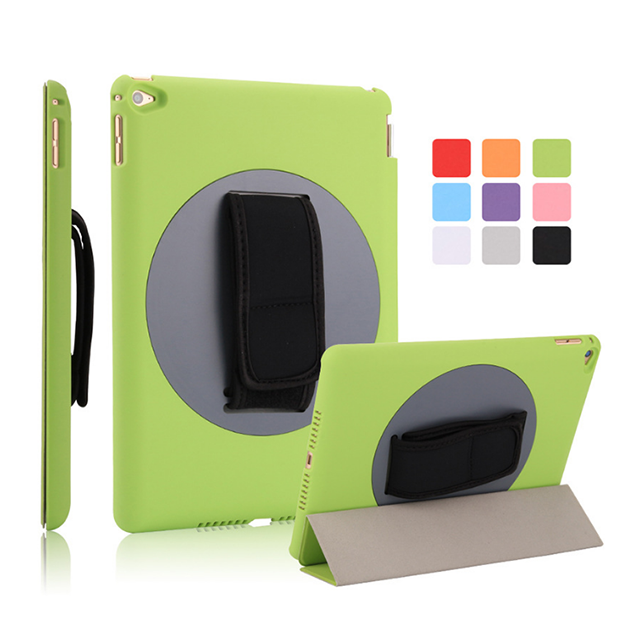 360 rotate tablet covers and cases , for ipad air 2 case cover with arm band