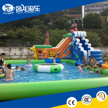 large inflatable water slide, PVC Material inflatable water slip n slide