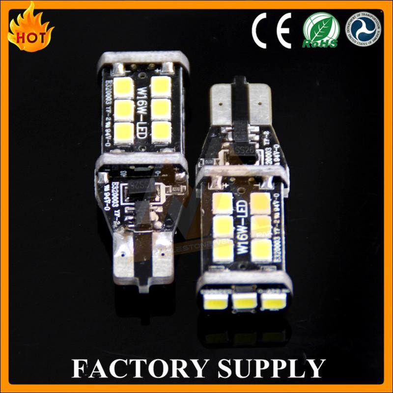 Point chaud! lumineux blanc T10 De Voiture ampoules LED SANS ERREUR CANBUS 15 SMD 2835 T10 W5W 168 501194 canbus led vue lumière