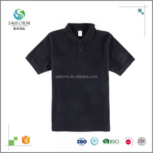 High quality men's Blank 100 Cotton Polo Short Sleeve T Shirt