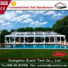 Luxury Outdoor Clear Transparent Tents PVC Roof Marquee Party Wedding Tent For 500-1000 People