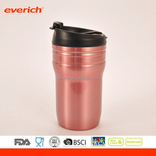 office custom stainless steel travel mug coffee cup with coffee lid and handle