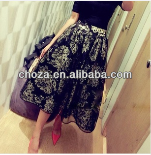 C61741A 2014 SUMMER FASHION ORGANZA GIRL 'S SKIRT