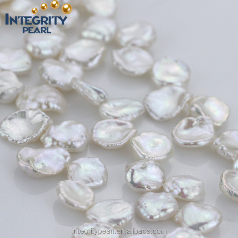AAA Wholesale 14mm large size natural color keshi pearl strand