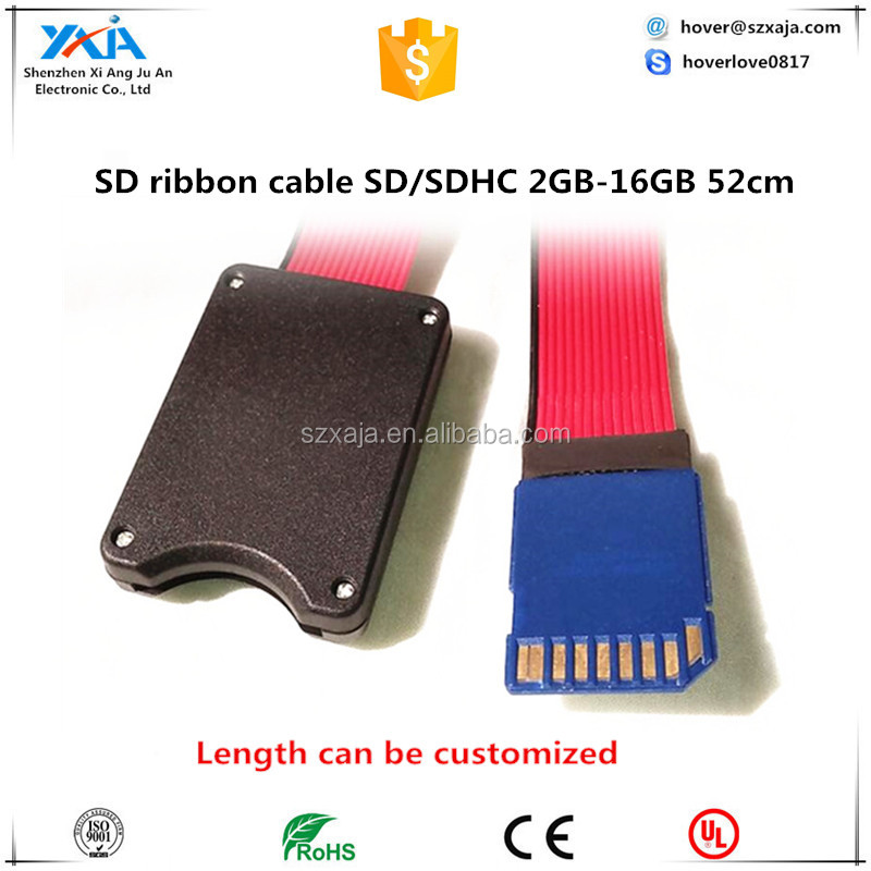 SD SDHC SDXC Card Reader Flex Zip Cable Cord Extension Adapter for GPS DVD LED