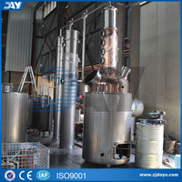 CE approved red copper distiller for whisky Distillation hot sale still equipment