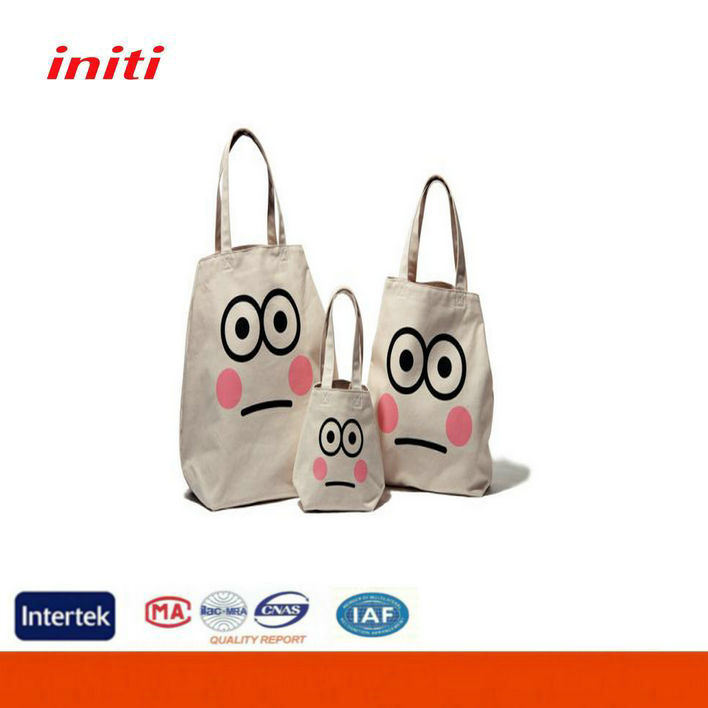 Full Printed High Quality 8oz Cute Tote Cotton Bag With Logo