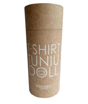 Cylinder packaging box t-shirt tube packaging cardboard round box for clothing packaging