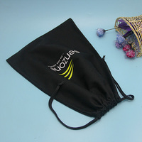 cheap price wholesale black cotton canvas bag drawstring pouch bags shopping tote bags wholesale