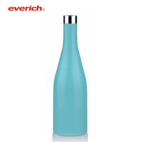 2018 everich unique shaped wine glass bottles/stainless steel wine container/glass bottles for wine prices
