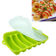Stocked feature Amazon hot sell creative DIY food-grade silicone sausage mold ham sausage rack baked hot dog Tray
