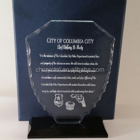 MH-NJ00406 Custom logo design crystal award plaque
