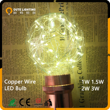Single wire christmas string light 24cm lenght for christmas tree with ST14 11W cIncandscent bulb or led bulb