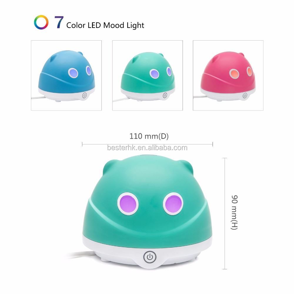 New product portable usb Mini ultrasonic aroma diffuser for car office